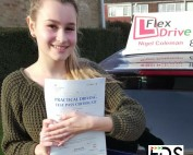 Driving lessons Wellingborough | Aga passed with Flexdrive Driving School