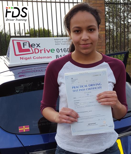 Driving Lessons in Northampton   Lydia passed 1st time with Flexdrive Driving School