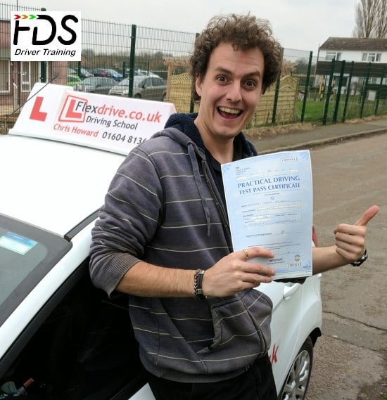 Driving Lesson in Wellingborough   Zak passed 1st time with Flexdrive Driving School