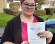 Driving Lessons in Wellingborough | Ella passed with Flexdrive Driving School