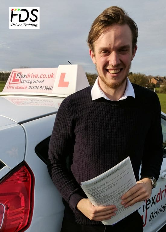 Driving Lessons in Wellingborough | Will passed 1st time with Flexdrive Driving School