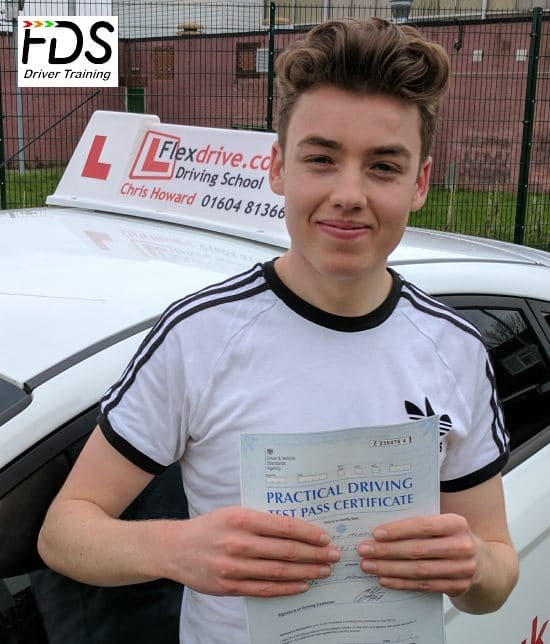 Driving Lessons in Wellingborough | Owen passed with Flexdrive Driving School