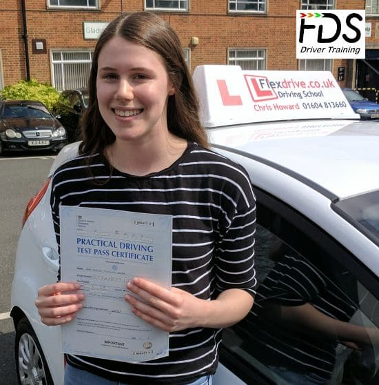 Driving Lessons in Northampton | Erin passed with Flexdrive Driving School