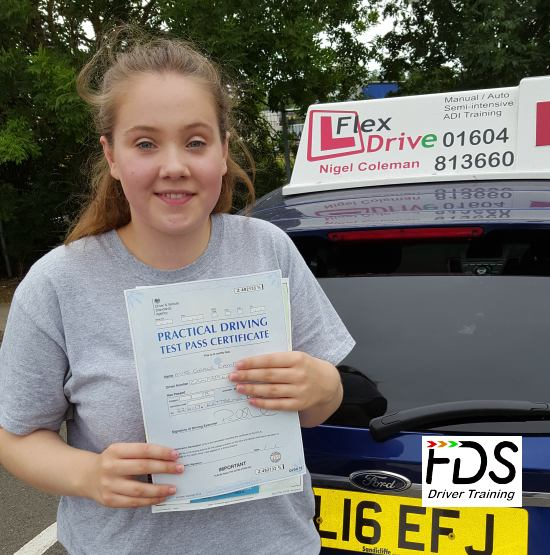 Driving Lessons in Kettering | Grace passed with Flexdrive Driving School