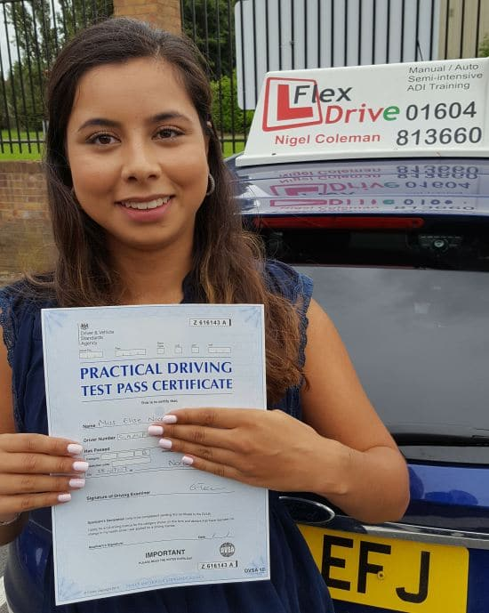 Driving Lessons in Northampton | Elise passed with Flexdrive Driving School