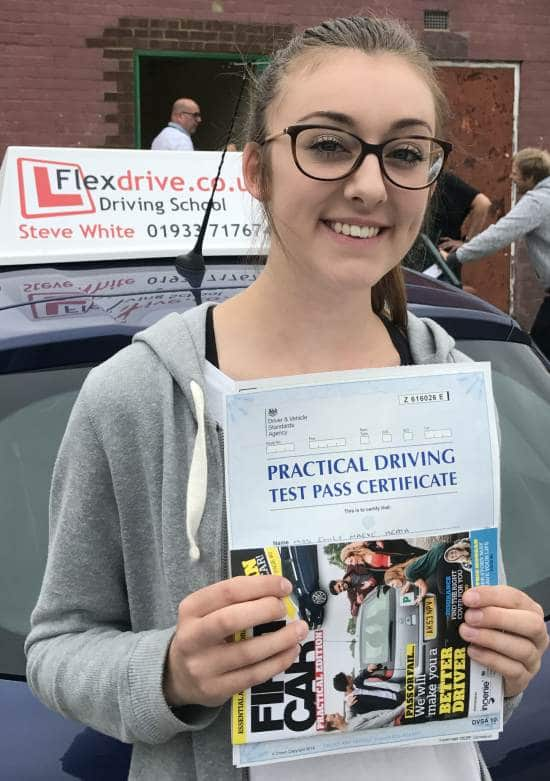 Driving lessons in Wellingborough | Emily passed with Flexdrive Driving School