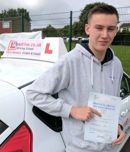 Driving Lessons in Wellingborough | James Cox passed with Flexdrive Driving school