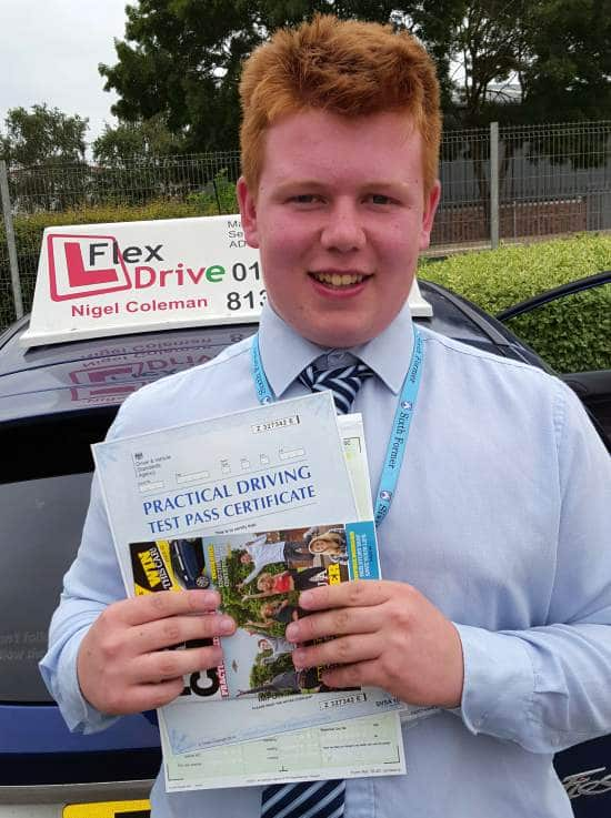 Driving Lessons in Kettering | Ryan passed with Flexdrive Driving School