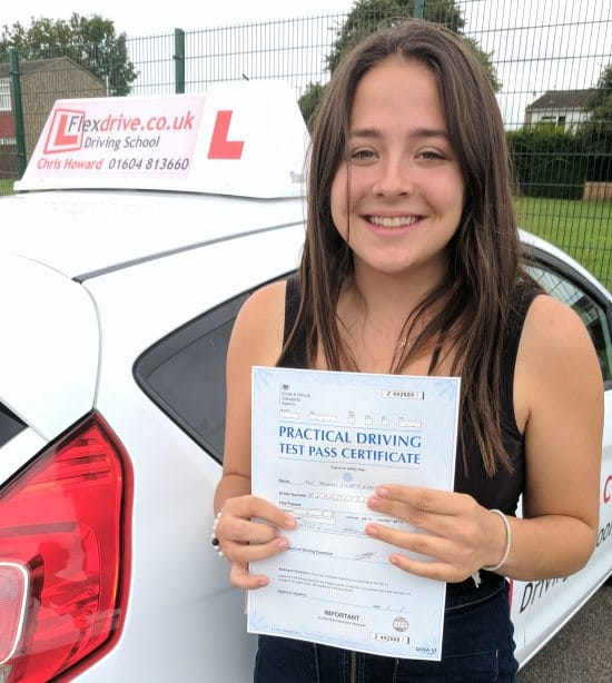 Driving Lessons in Wellingborough | Shannon passed with Flexdrive Driving School