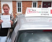 Automatic Driving Lessons in Coby | Anett passed 1st time with Flexdrive Driving School