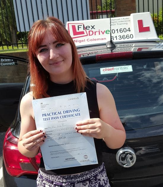 Driving Lessons in Northampton | Emma passed 1st time with Flexdrive Driving School