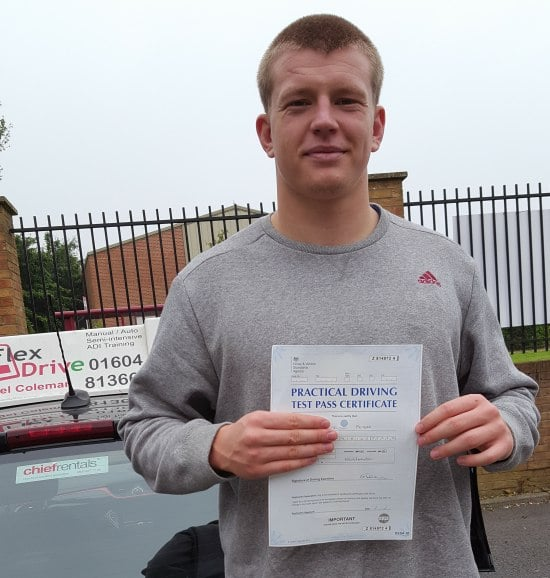 Driving Lessons in Northampton | Josh passed 1st time with Flexdrive Driving School