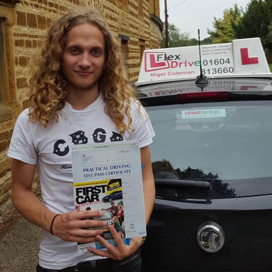 Driving Lessons in Northampton | Richard Passed 1st time with 0 Driving Faults