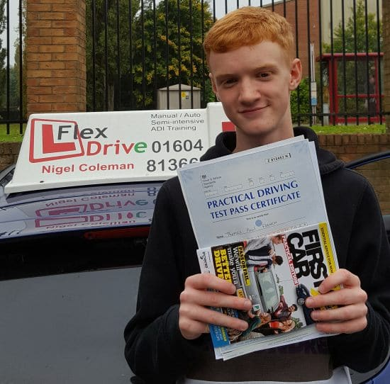 Driving Lessons in Northampton | Tom Passed with Flexdrive Driving School