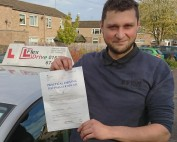 Automatic Driving Lessons Corby   Łukasz passed with Flexdrive Driving School