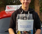 Driving Lessons in Northampton   Ed passes with Flexdrive Driving School