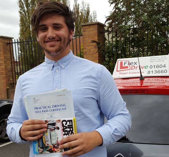 Driving Lessons in Northampton | Ismael passed with Flexdrive Driving School