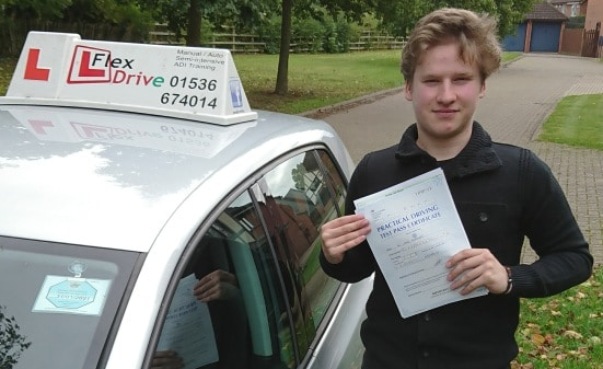 Automatic Driving Lessons in Kettering | James passed with Flexdrive Driving School