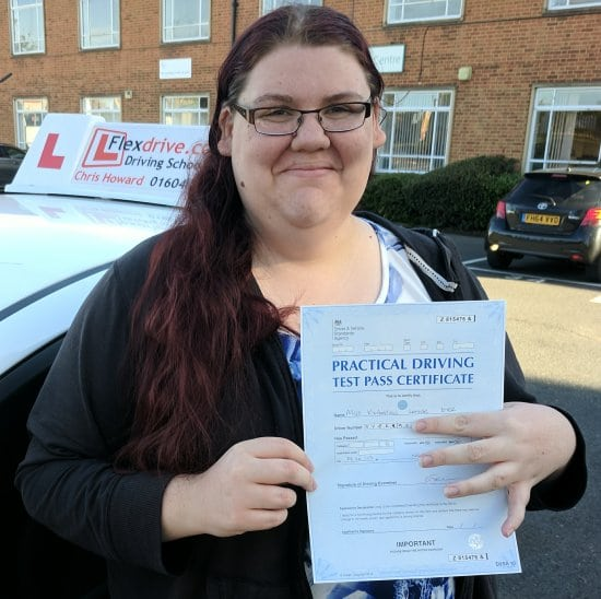 Driving Lessons in Northampton | Kim passed with Flexdrive Driving School