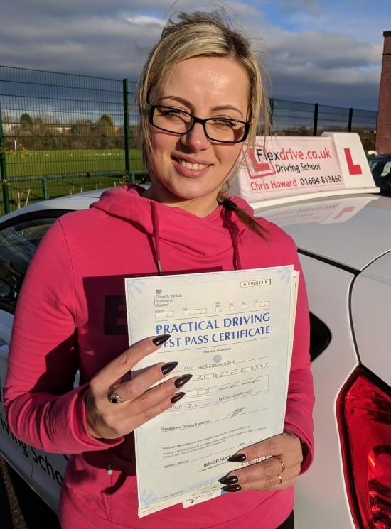 Driving Lessons in Wellingborough | Inga passed 1st time with Flexdrive Driving School