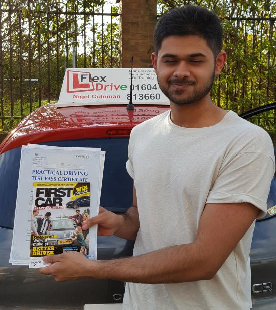 Driving Lessons Northampton | Osama passed with Flexdrive Driving School