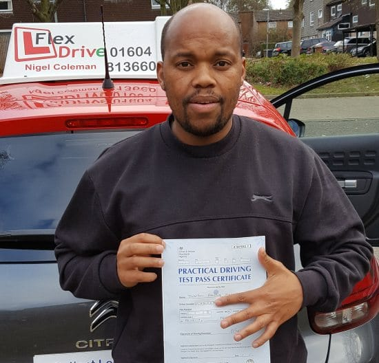 Driving Lessons in Northampton   Jay passed with Flexdrive Driving School