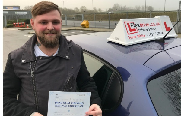 Driving Lessons in Kettering   Levi passes 1st time with Flexdrive Driving School