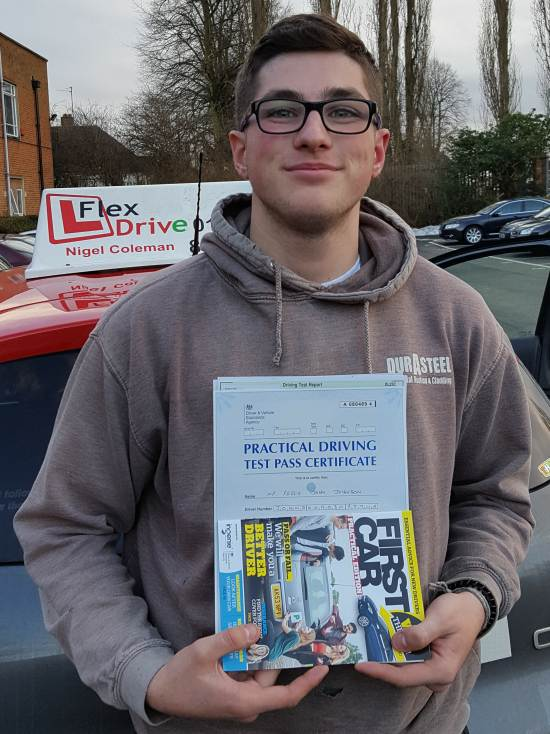 Driving Lessons in Northampton   Reece passed 1st time with Flexdrive Driving School