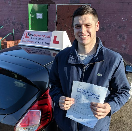 Driving Lessons in Wellingborough | Ethan passes with Flexdrive Driving School