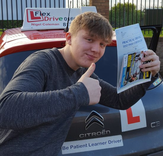 Driving Lessons in Northampton | Harry passed 1st time with Flexdrive Driving School