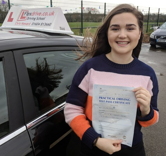 Driving Lessons in Wellingborough | Lily passed with Flexdrive Driving School