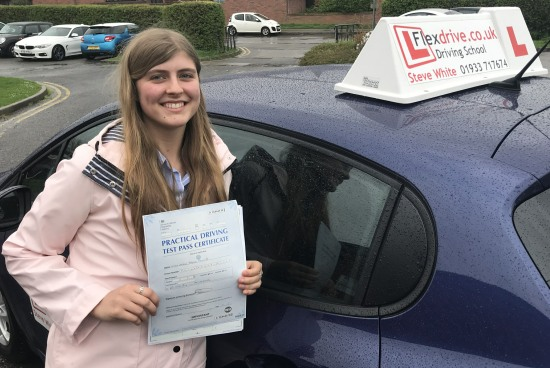 Driving Lessons in Kettering | Abbie passed with Flexdrive Driving school