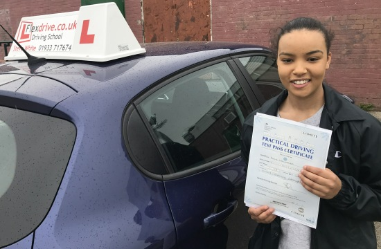 Driving Lessons in Wellingborough | Alicia Passed with Flexdrive Driving School