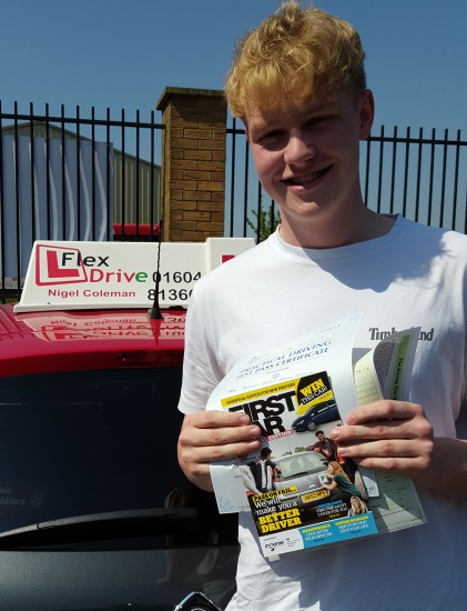 Driving Lessons in Northampton | Dominic passed 1st time with Flexdrive Driving School
