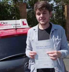 Driving Lessons Northampton | Gage passed with Flexdrive Driving School