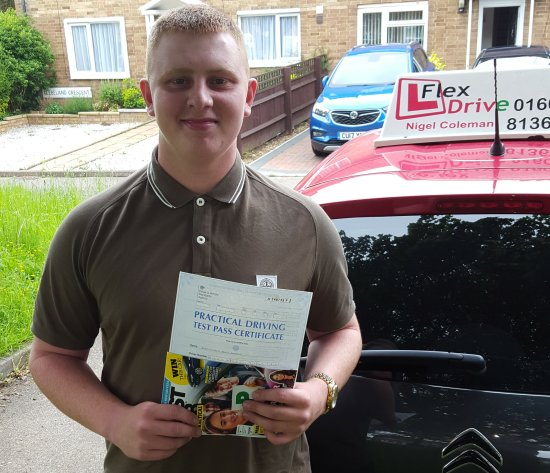 Driving Lessons in Northampton | Liam passed 1st time with Flexdrive Driving School