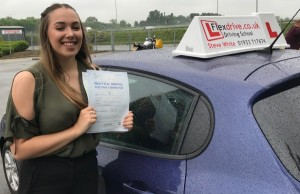 Driving Lessons in Kettering | Morgan Passed 1st 1st time with Flexdrive Driving Lessons