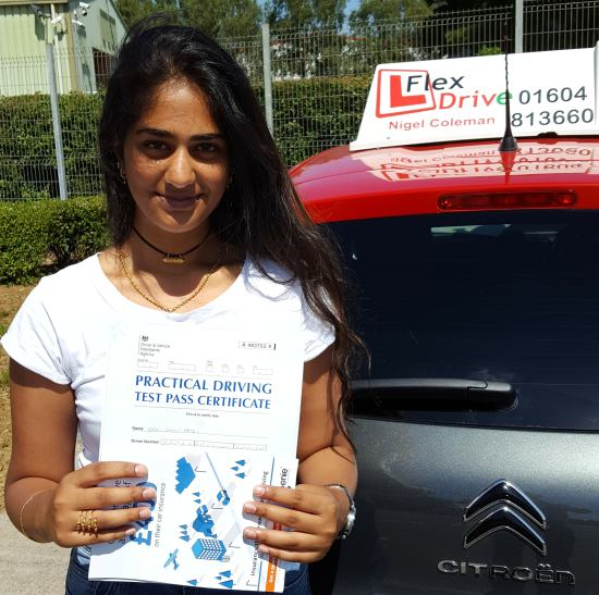 Driving Lessons in Kettering | Demi passed with Flexdrive Driving School