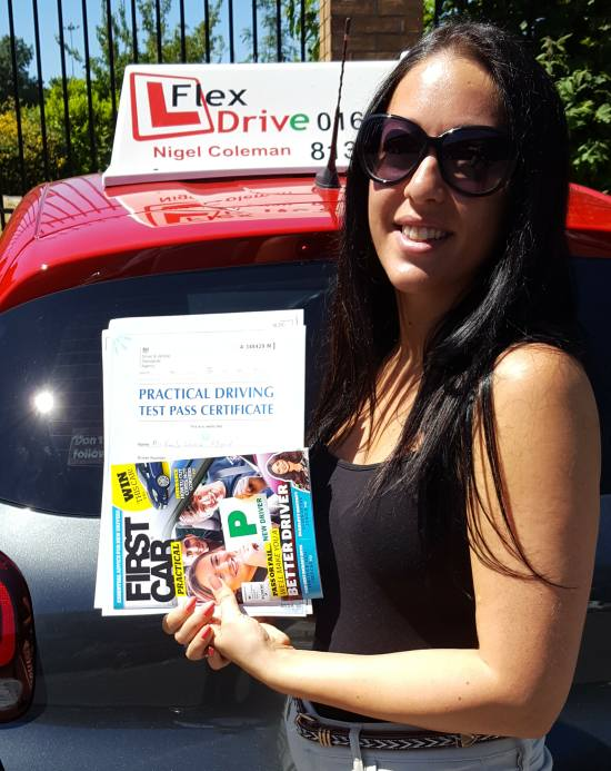 Driving Lessons Northampton | Emily passed 1st time with Flexdrive Driving School