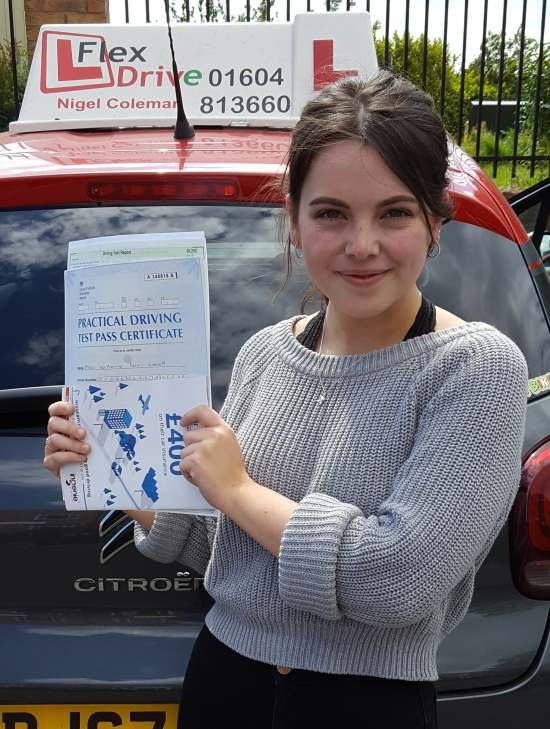 Driving Lessons Northampton | Katherine passed 1st time with Flexdrive Driving School