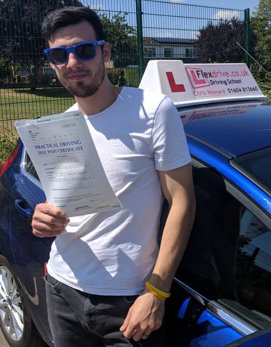 Driving Lessons in Wellingborough | Martyn passed 1st time with Flexdrive Driving School