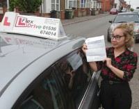 Automatic Driving Lessons in Kettering | Tina passed 1st time with Flexdrive Driving School