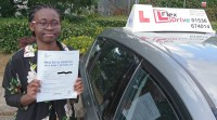 Automatic Driving Lessons Kettering | Sharon passed with Flexdrive Driving School