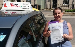 Automatic Driving Lessons in Kettering | Adele passed 1st time with Flexdrive Driving School