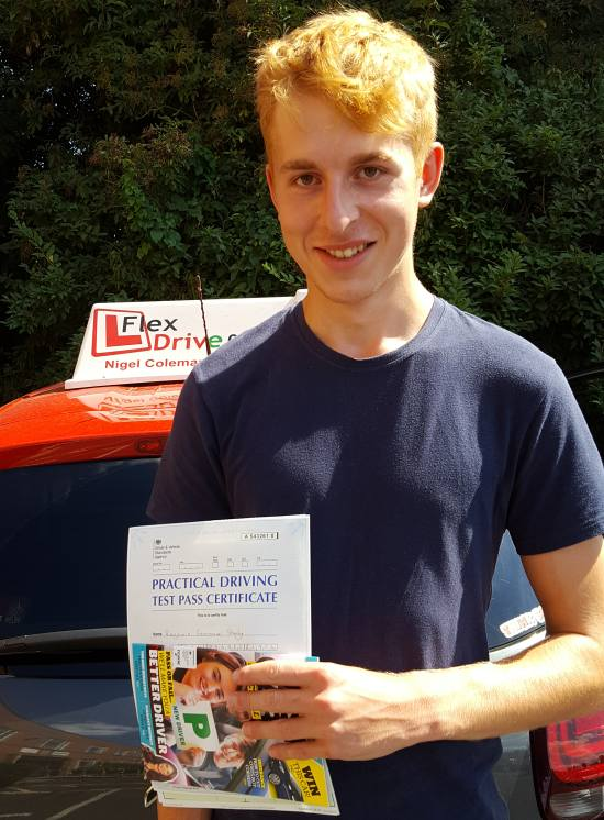 Driving Lessons in Northampton   Ben passed with Flexdrive Driving School