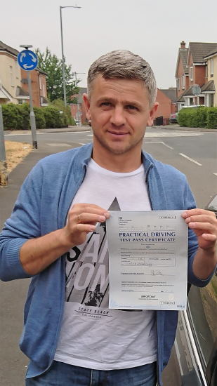 Automatic Driving Lessons in Kettering   George passed 1st time with Flexdrive Driving School