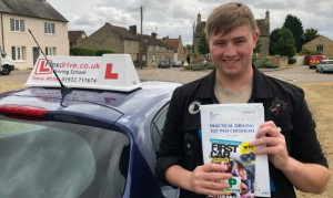 Driving Lessons Kettering | Olly passed 1st time with Flexdrive driving school
