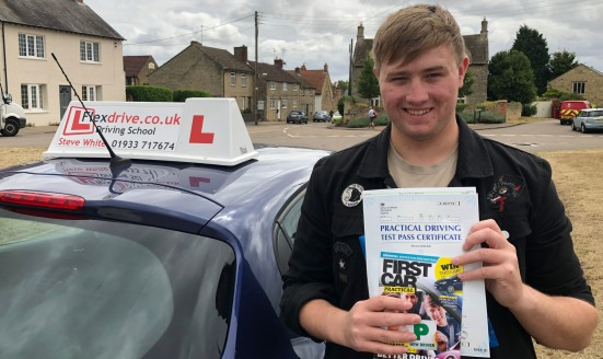 Driving Lessons Kettering   Olly passed 1st time with Flexdrive driving school