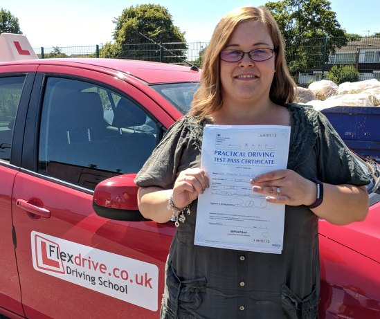 Automatic Driving Lessons Wellingborough   Sarah passed 1st time with Flexdrive Driving School