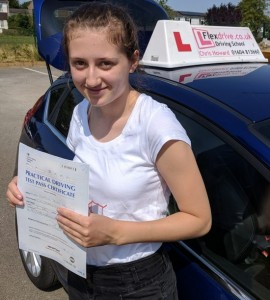 Driving Lessons in Wellingborough | Sophie Passed 1st time with Flexdrive Driving School